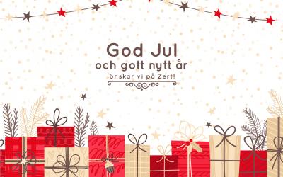 Vi på Zert önskar er en God Jul och ett Gott Nytt År!