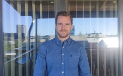 Adrian Bergström, ny medarbetare på Zerts kontor i Umeå!